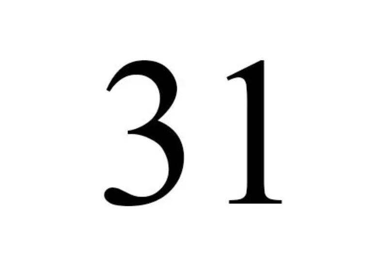 Numerologi 31