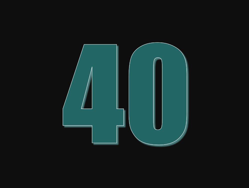 tallet 40 betydning