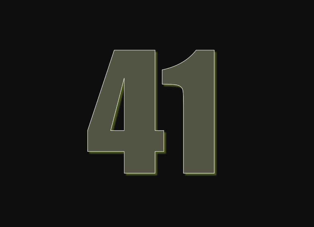 tallet 41 betydning