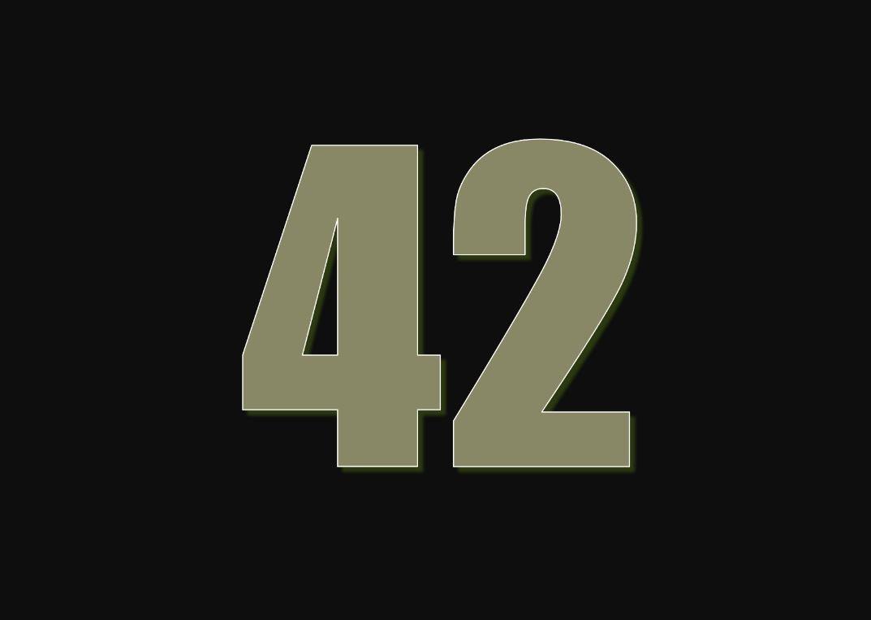tallet 42 betydning