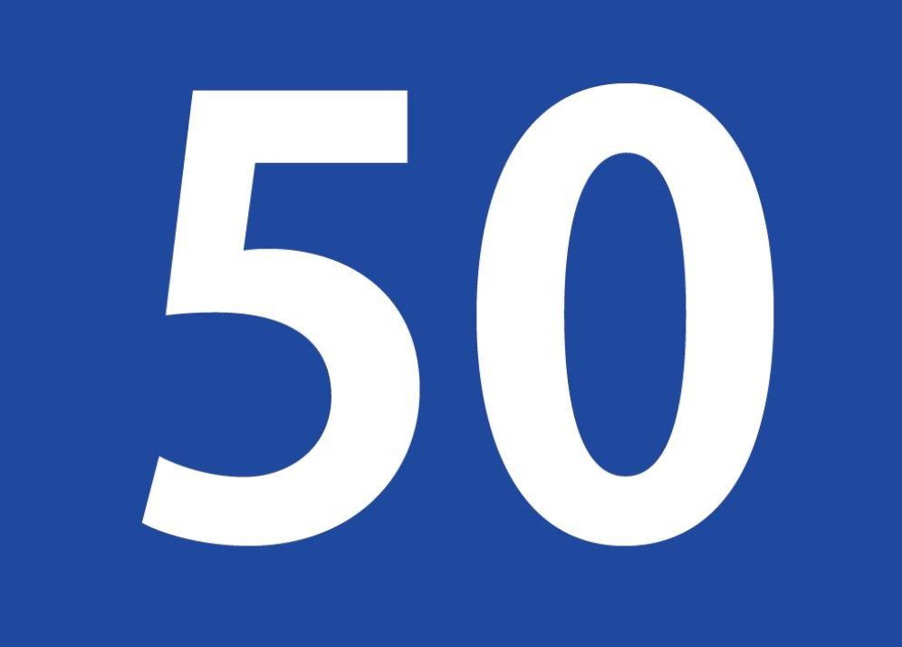 tallet 50 betydning