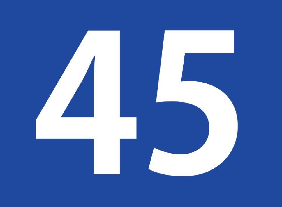 tallet 45 betydning
