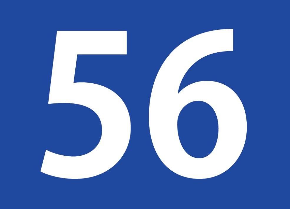 tallet 56 betydning