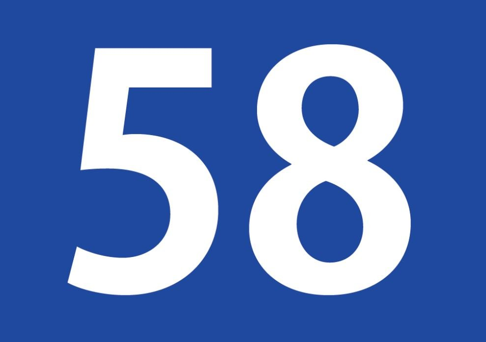 tallet 58 betydning