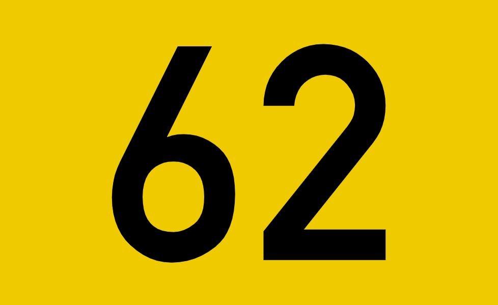 tallet 62 betydning