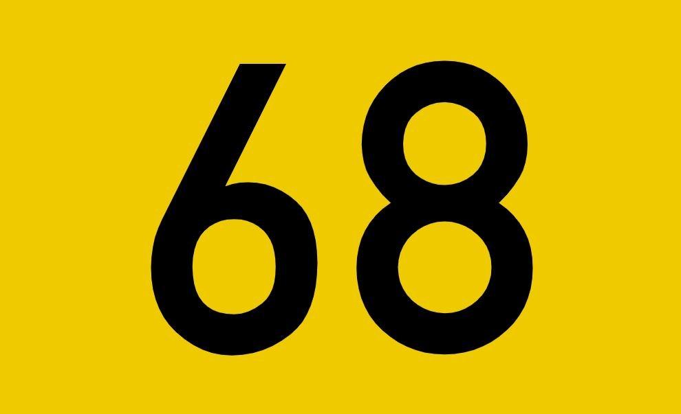 tallet 68 betydning