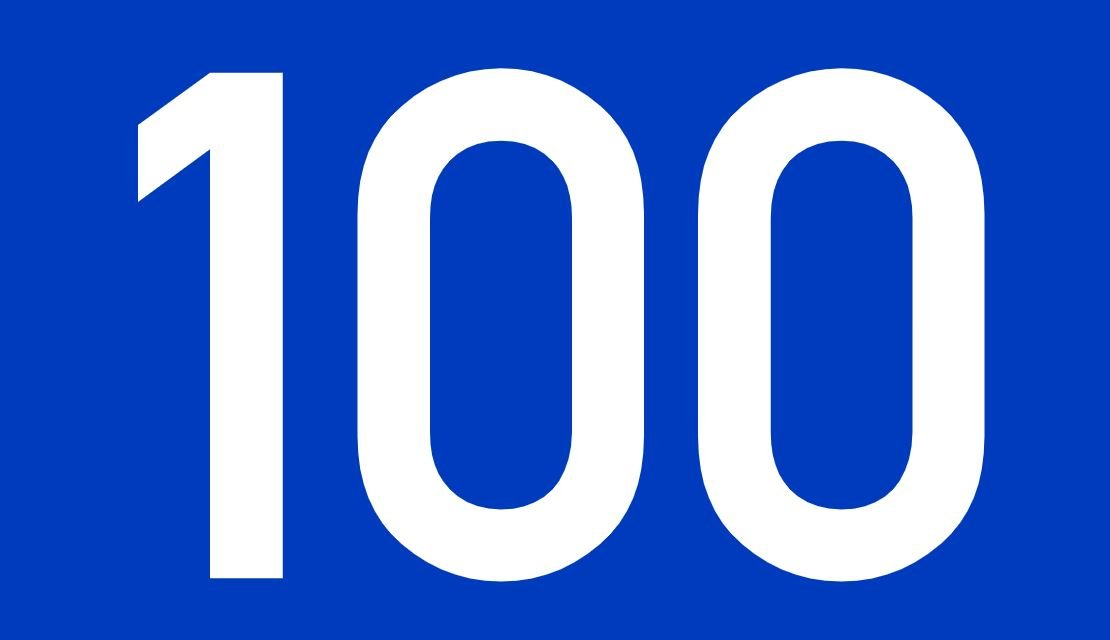 tallet 100 betydning