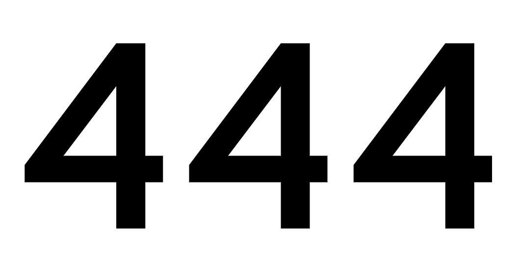 tallet 444 betydning