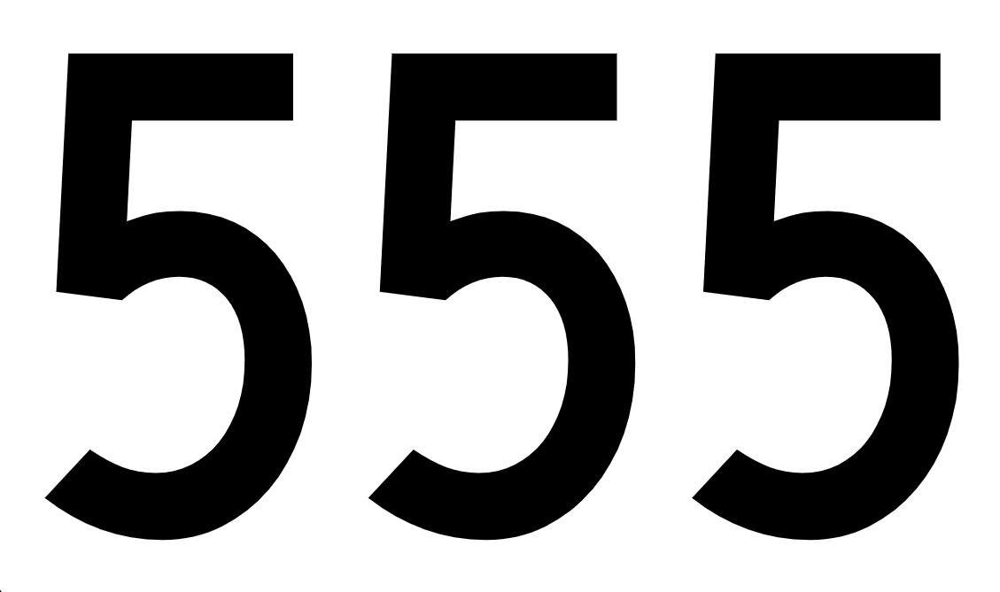 tallet 555 betydning